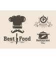 set badges and labels elements for restaurant vector image vector image