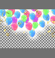 set of colored balloons frame composition with vector image