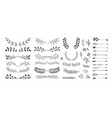 set of hand drawing page dividers borders and vector image vector image