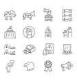 set vote icon in thin line style symbols vector image vector image