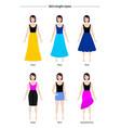 skirt length styles vector image