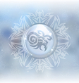snow globe with zodiac sign Capricorn vector image vector image