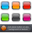 Square glossy buttons vector image vector image