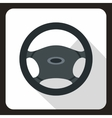 Steering wheel icon flat style vector image vector image