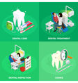 Stomatology Isometric Concept vector image vector image