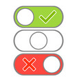 toggle button switch off or turn modern selector vector image