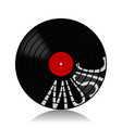 vinyl record-lp music vector image vector image