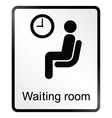 Waiting Room Information Sign vector image vector image