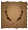 Wheat sign Vintage effect vector image