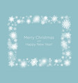 white wreath snowflakes new year christmas frame vector image vector image