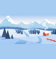 winter mountain landscape with forest and lonely vector image vector image
