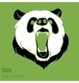 Angry panda vector image