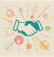 handshake concept business vector image