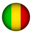 Mali flag button vector image