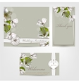 Wedding invitation Apple vector image