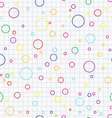 Bubbles seamless background vector image
