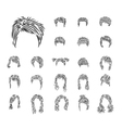 man woman hairdress vector image