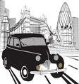 Sketch London taxi vector image