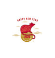 2020 rat happy new year background chinese vector image