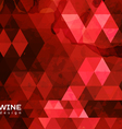 Abstract triangle wine background vector image vector image