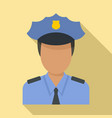 airport police officer icon flat style
