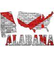 Alabama on a brick wall vector image