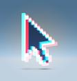 arrow pointer 3d vector image vector image