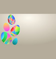 background colored easter eggs vector image vector image