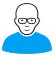 bald man flat icon