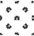 bank building pattern seamless black vector image vector image