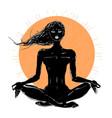beautiful girl in yoga pose vector image vector image