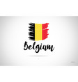 belgium country flag concept with grunge design vector image vector image