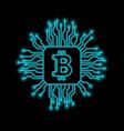 bitcoin falling apart to digits vector image