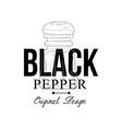 black pepper logo original design culinary spice vector image vector image