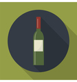 bottle of wine icon vector image vector image