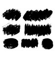 brush strokes paintbrushes set grunge vector image vector image