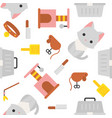 cat and toy seamless pattern for wallpaper or vector image vector image