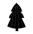 christmas forest tree fir-tree icon simple vector image vector image