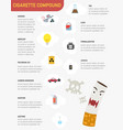 cigarette compound infographics vector image vector image