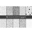 collection swatches memphis patterns - seamless vector image vector image