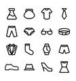crisp fashion icons vector image