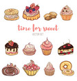 delicious cakes vector image