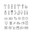 different thin line icons collection vector image vector image
