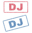 dj textile stamps vector image vector image