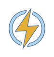 electric power sign color icon vector image