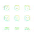 emoji emoticon smiley eps icons set vector image