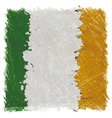Flag of Ireland handmade square shape vector image