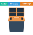 Flat design icon of Fishing opened box vector image