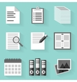 Flat icon set Paper White style vector image vector image