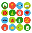 Flat Merry Christmas Icons vector image vector image